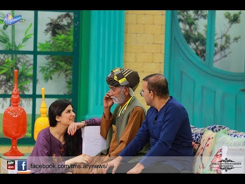 ever funny Scene sanam baloch with bashir baloch in morning show