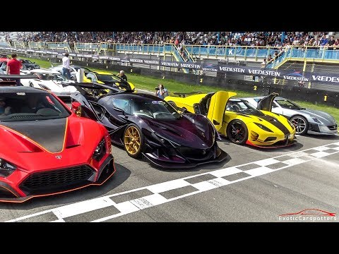 $50 MILLION HYPERCAR LINE UP ! Apollo IE, Zenvo TSR-S, Agera RS ML, LaFerrari, Ford GT,…