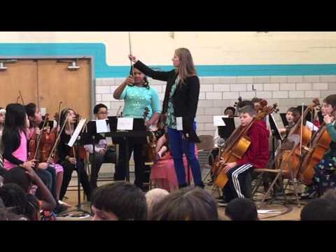 Strings concert at Schenk Elementary School -December 18, 2015