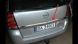 Jak zdemontować listwę chromową/ozdobną z klapy - Opel Zafira, Astra