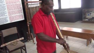 Sand Drawing and Flute Playing at the Vanuatu Cultural Centre, Port Vila, Vanuatu