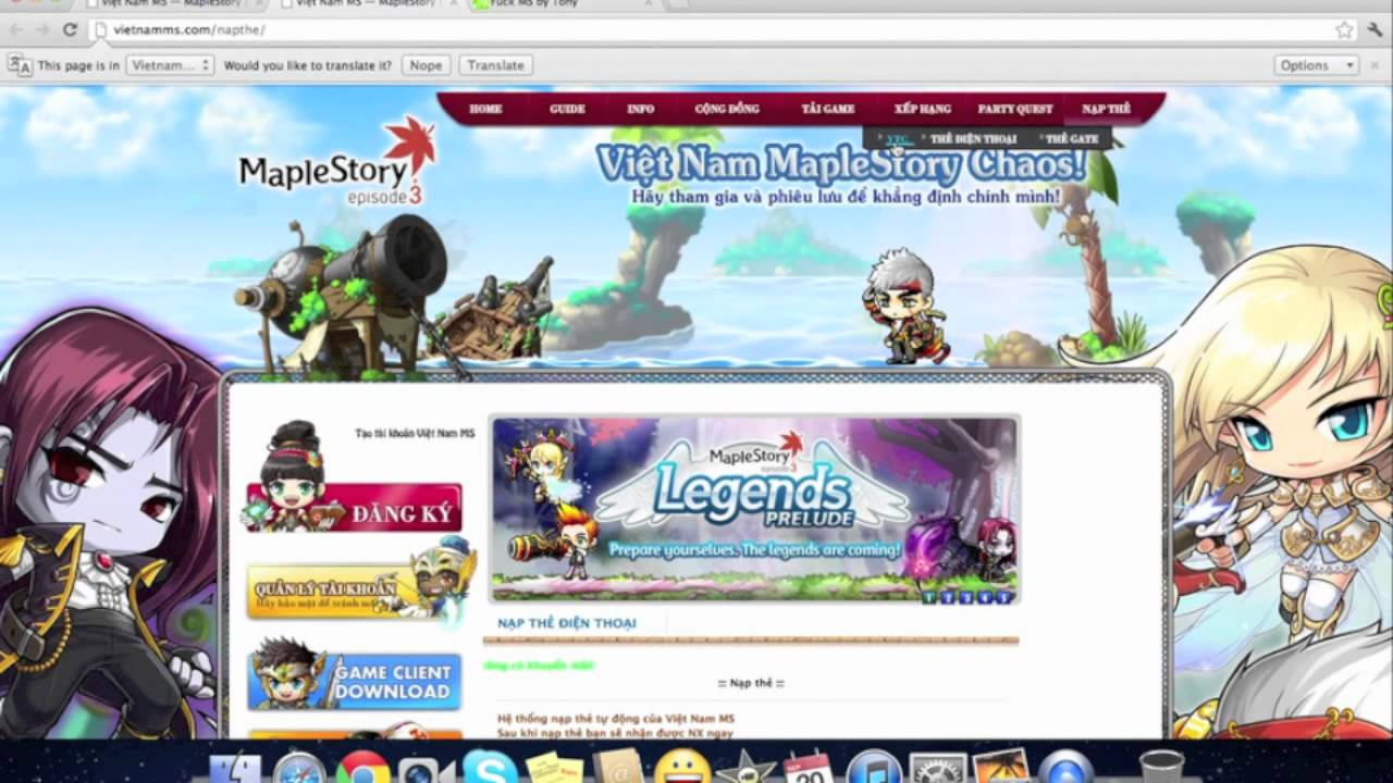 maplestory game client download