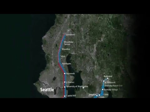 Sound Transit – Lynnwood Link Extension route and stations