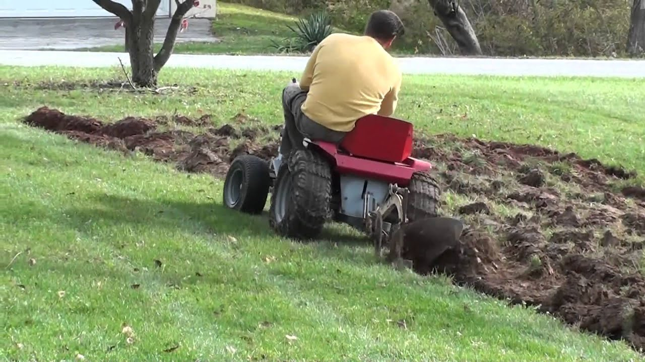 Plowing our first garden YouTube