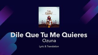 Ozuna - Dile que tu me quieres - Lyrics English and Spanish ...