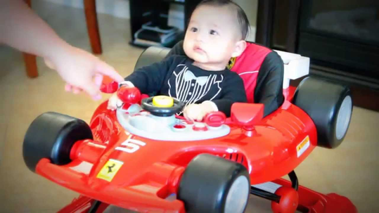 F1 Ferrari Baby Walker - YouTube