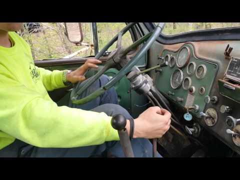 Driving a 1964 Mack B-61 quad box.