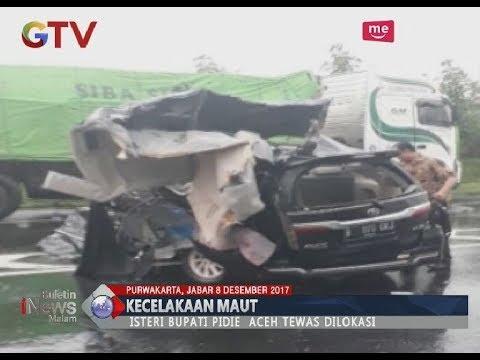 Kembali Memakan Korban, Kecelakaan di Tol Cipali Menewaskan Istri Bupati Pidie Aceh - BIM 08/12