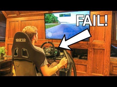 CRASHING The Racing Simulator!