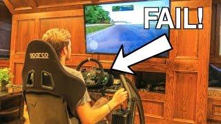 CRASHING The Racing Simulator! thumbnail
