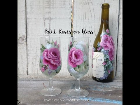 How to Paint Roses on Glass