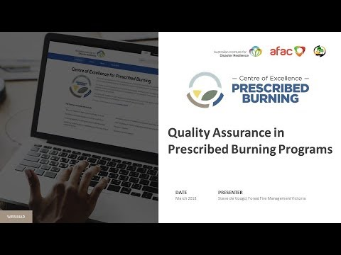 Quality Assurance in prescribed burn programs