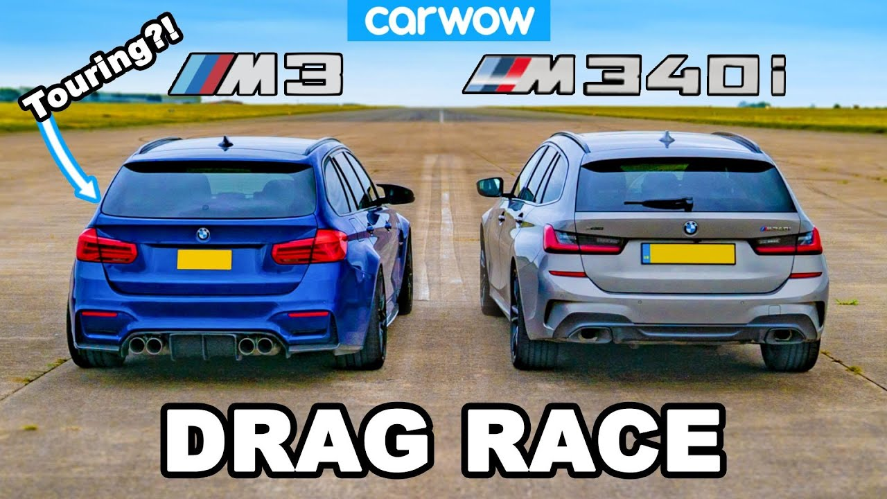 BMW M3 Touring vs M340i: DRAG RACE