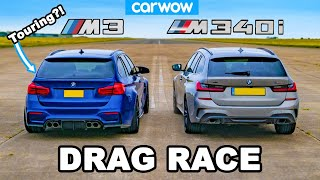 BMW M3 Touring vs M340i: DRAG RACE