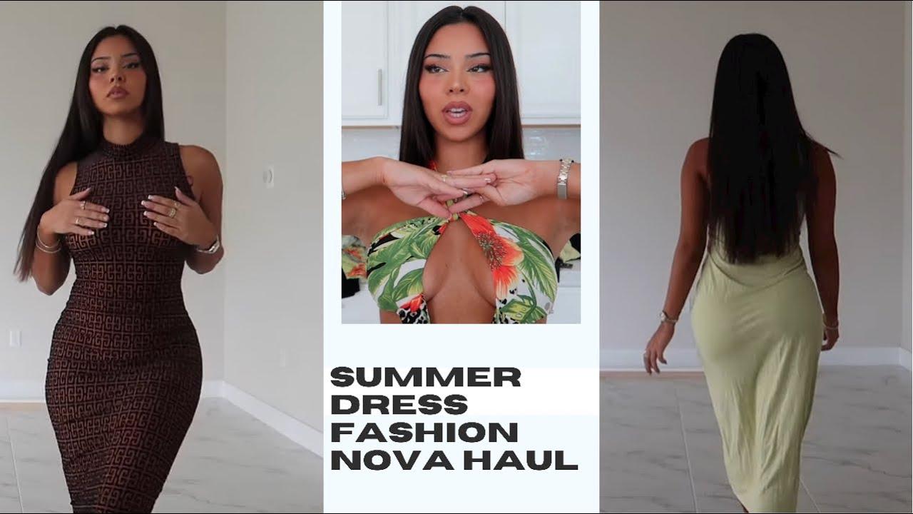 SUMMER DRESS TRY ON HAUL FASHION NOVA | TIANA MUSARRA
