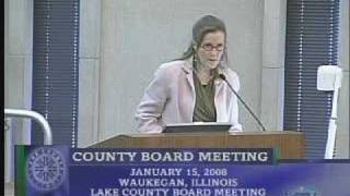 01 15 08 Two Public Comments At Lake County Board Meeting