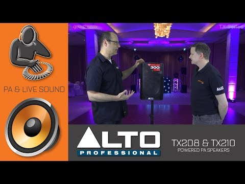 *** GREAT NEWS!! *** Find Out Everything That's New About Alto TX208 and TX210 Powered PA Speakers