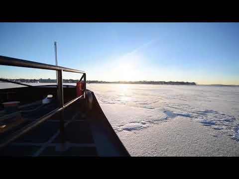 Coast Guard Cutter Shackle Breaks Ice In Boston For Operation RENEW
