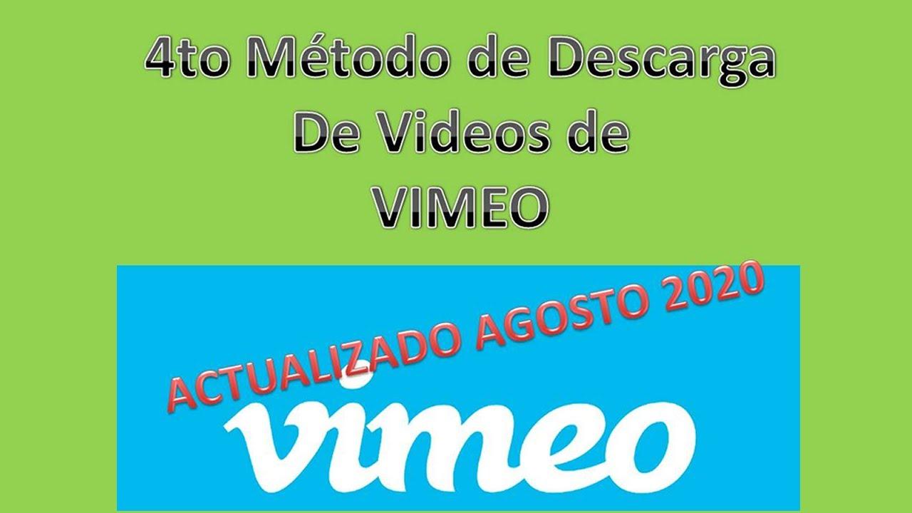 4 Metodo de descarga de videos de VIMEO
