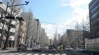 仙台宮城ICから仙台駅を青葉山トンネルをくぐりながら、杜の都。