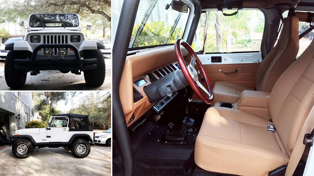 Jeep Wrangler Restoration Is Complete 1993 Yj Youtube Rh Youtube Com 1990 Jeep  Wrangler YJ Interior 1993 Jeep Wrangler YJ Parts