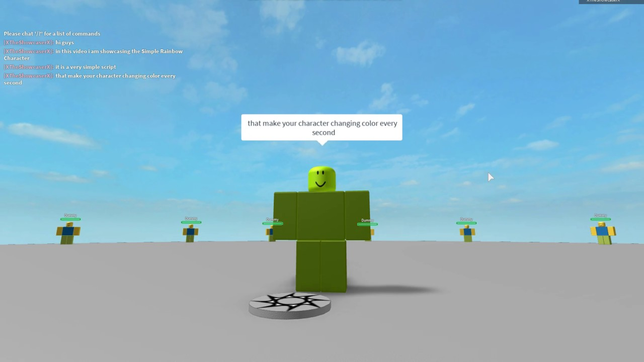 Roblox Script Showcase Episode 270 Simple Rainbow Character Youtube