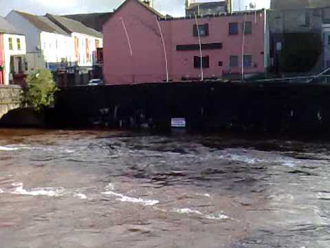 River Strule in Omagh flooding