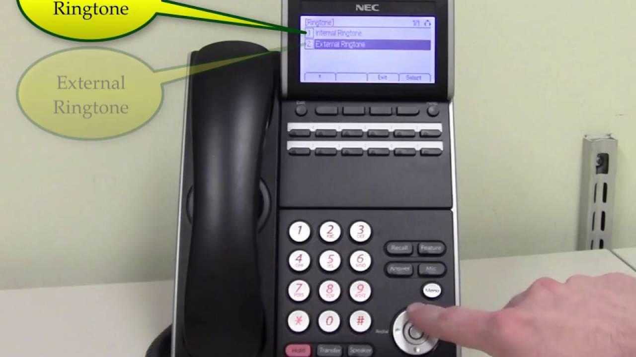 NEC VoIP Phones - Change Ringtone