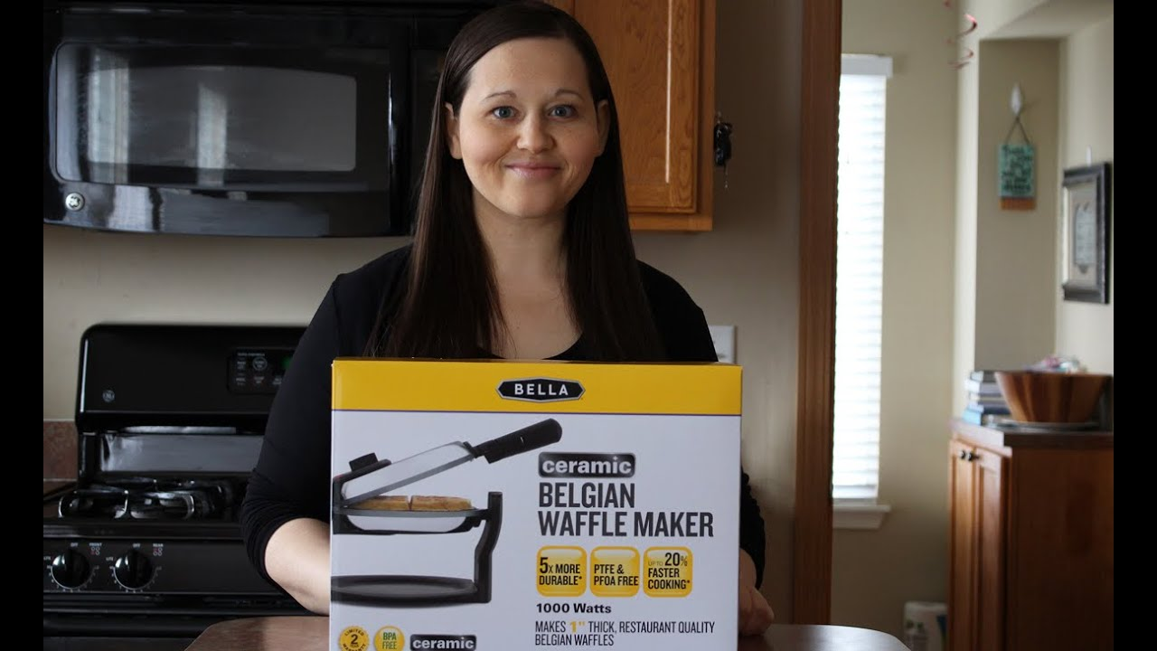 Waffle Recipe From Scratch And The Bella Ceramic Belgian Waffle
