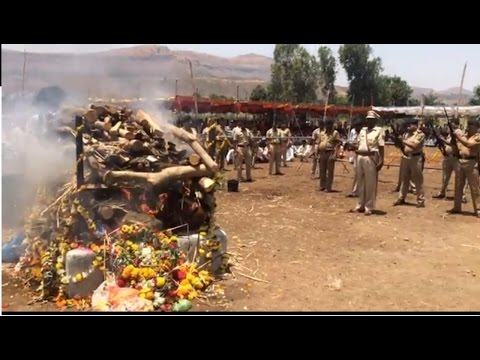 Salute given by maharashtra gov State minister A T Pawar his dead KALWAN