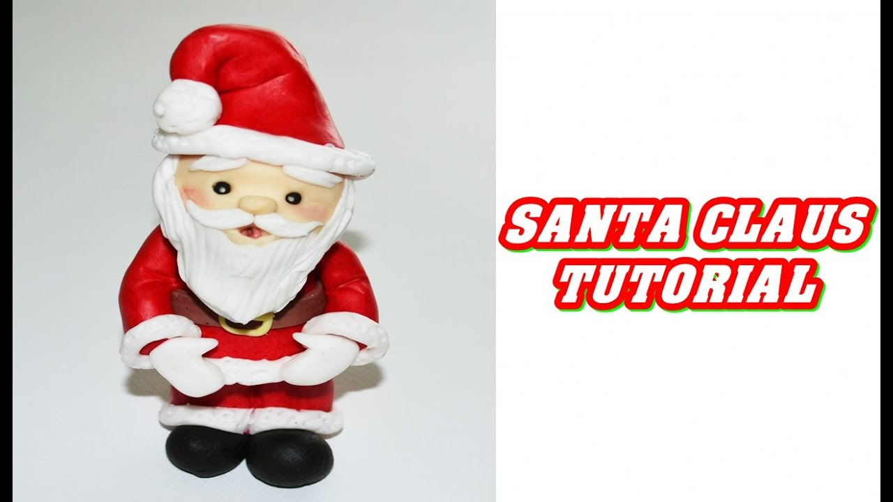 How to make a father christmas cake decoration - How To Make A Simple Santa Claus Cake Topper Fondant Babbo Natale Tutorial Pasta Di Zucchero Youtube