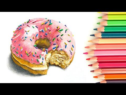 Colored Pencil Lesson - Doughnut With Polychromos Pencils