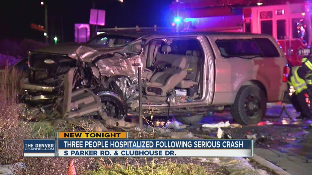 Car Accident Statistics >> Three people hospitalized after serious crash in Parker - YouTube