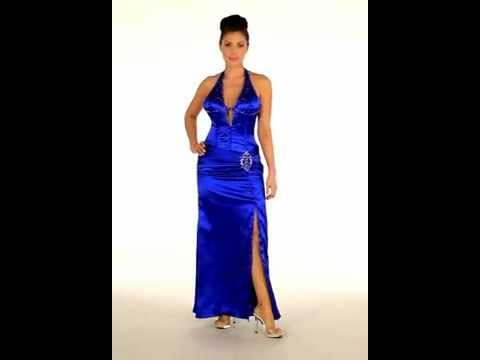 Sexy Prom Dress Semi Formal Halter Gown Youtube
