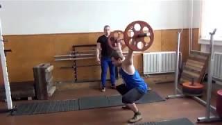 Первая тренировка Никиты 28.02.2017