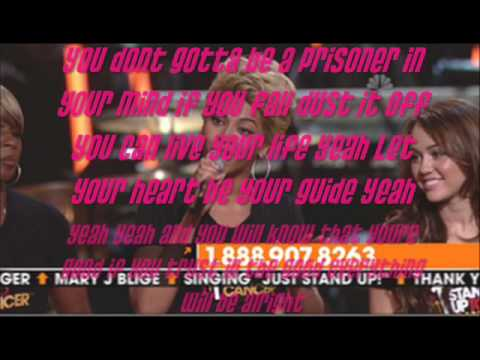 STAND UP TO CANCER with lyrics