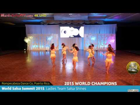WSS15 Feb5. Ladies Team Salsa Shines World Champions Rompecabeza Dance Co, Puerto Rico. REC 4K UHD.