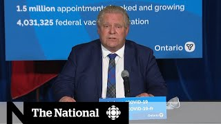 Ontario announces provincewide stay-at-home order, targeted vaccine rollout
