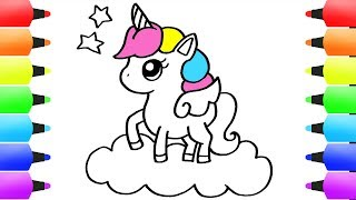 unicorn drawing draw easy step simple drawings cartoon coloring pages clipartmag