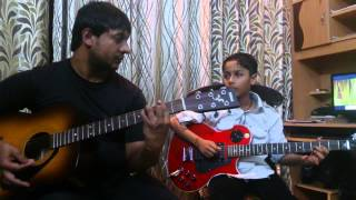 Hai apna dil to awara from Xpoze guitar cover by rio and amit