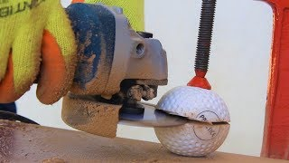 What is Inside a Hockey Ball Cutting Open Hockey Ball Blade XYZ Hindi