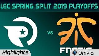 OG vs FNC Highlights Game 1 LEC Spring 2019 Playoffs Origen vs Fnatic LEC Highlights By Onivia