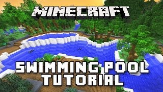minecraft tutorial how to make a swimming pool and spa modern house build ep 31