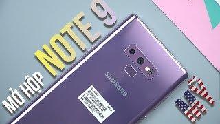 Mở hộp Galaxy Note 9 Mỹ: Khác gì so với hộp Việt Nam