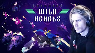 xQc Plays Sayonara Wild Hearts with Chat! (Full Playthrough)