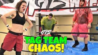 FEISTY GIRLS TAG TEAM CHAOS TARP MATCH MELTDOWN! GRIM vs JAY EVANS for SWF CHAMPIONSHIP!