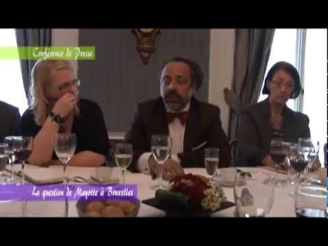 Conference de presse Mr FAHAMI sur la question de Mayotte (BRUXELLES)