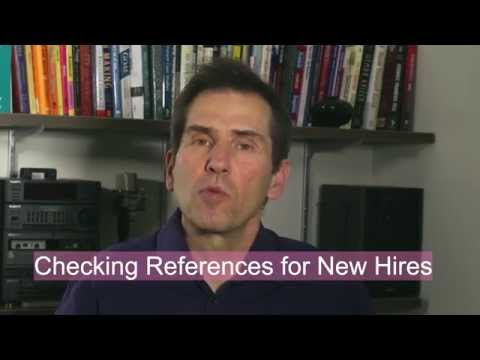 Employee Reference Checking For New Hires