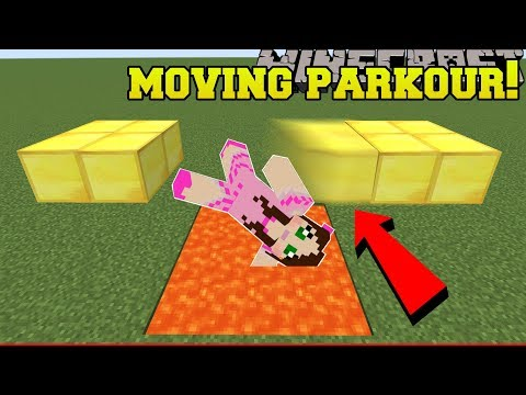 Minecraft:  DEADLY MOVING PARKOUR!!! - A HOLE NEW WORLD - Custom Map [2]