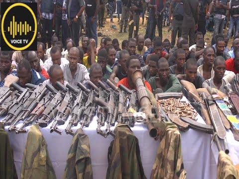 Police Parade Kaduna Highway Kidnapers With Rocket Lancer